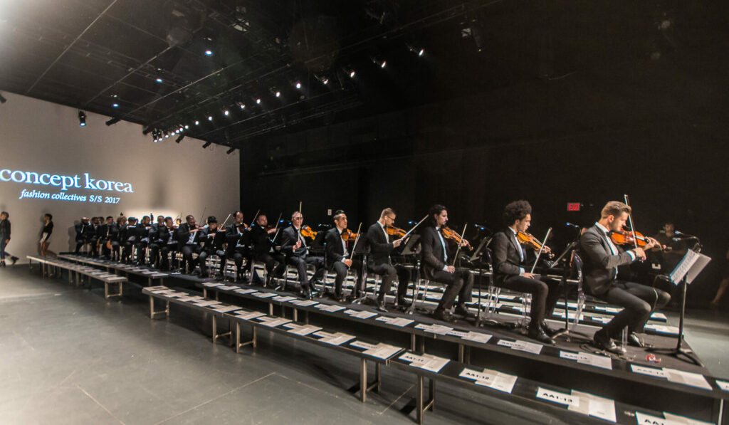 New York Fashion Week Male Orchestra
